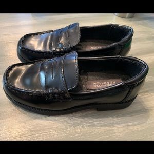 Kenneth Cole Reaction Loafers Black Leather Sz 13m
